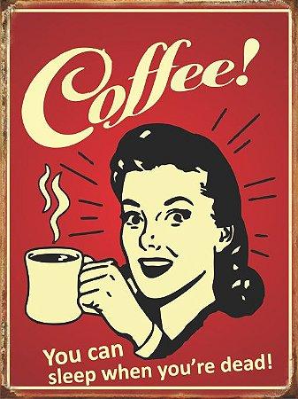 3566 Placa de Metal - Coffee you can
