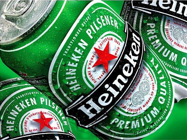 3582 Placa de Metal - Heineken lata