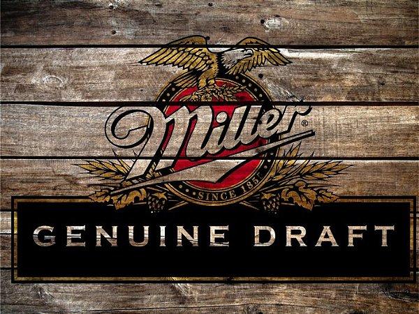 3584 Placa de Metal - Miller madeira