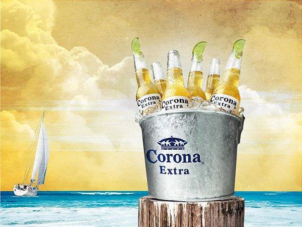 3585 Placa de Metal - Corona balde