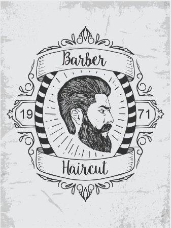 3591 Placa de Metal - Barber haircut