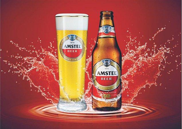 3597 Placa de Metal - Amstel red