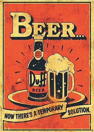 3601 Placa de Metal - Beer duff