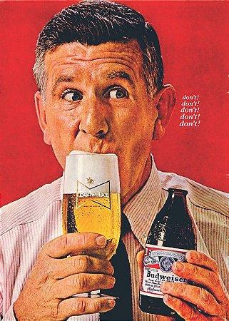 3605 Placa de Metal - Budweiser dont