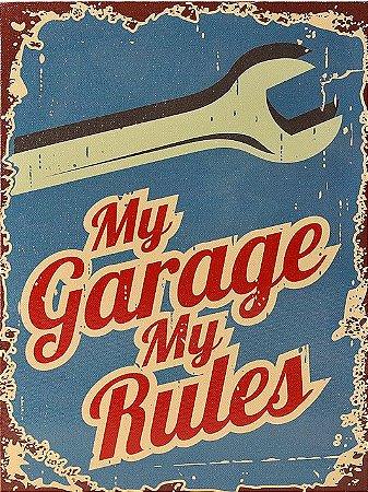 3607 Placa de Metal - My Garage