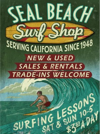 3611 Placa de Metal - Surf Shop