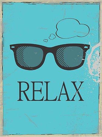 3617 Placa de Metal - Relax