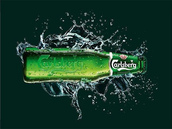 3620 Placa de Metal - Carlsberg garrafa