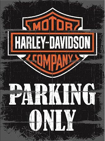 3623 Placa de Metal - Harley Parking Only