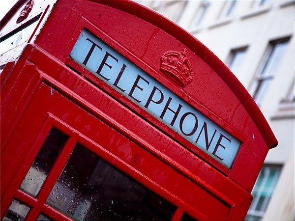 3627 Placa de Metal - Telephone