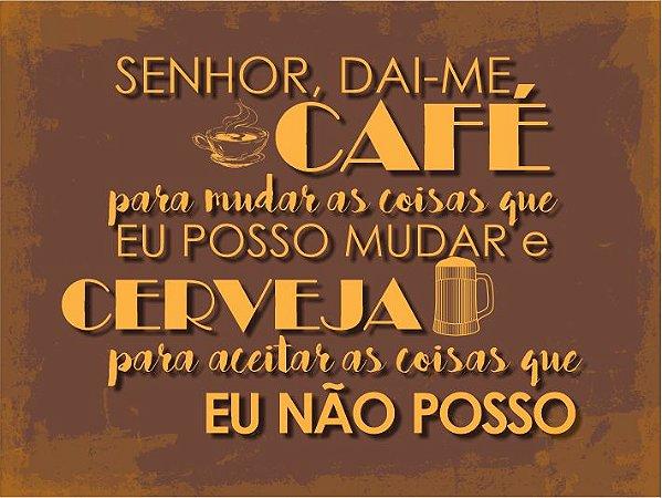 3629 Placa de Metal - Café