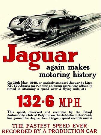 3634 Placa de Metal - Jaguar
