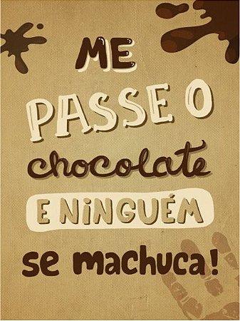 3672 Placa de Metal - Chocolate