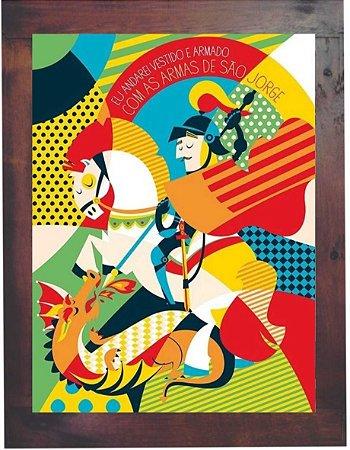 3093PG-029 Quadro Poster - São Jorge