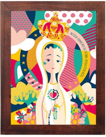 3093PG-032 Quadro Poster - Nossa Senhora de Fátima