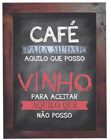 3093PG-036 Quadro Poster - Café e vinho