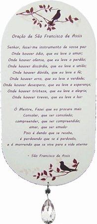 1741 Placa de oração  - São Francisco de Assis