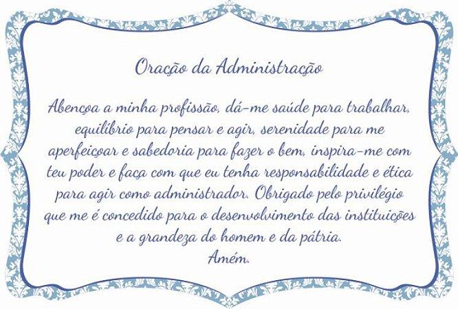 1760-001 Placa de oração profissão - Administração