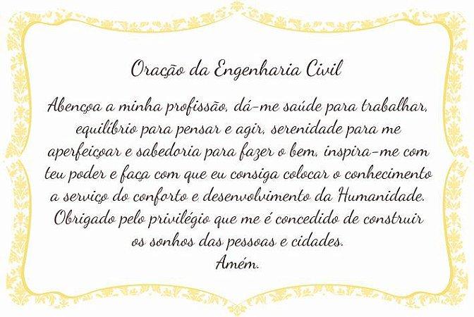 1760-006 Placa de oração profissão - Engenharia Civil