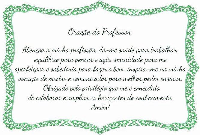1760-021 Placa de oração profissão - Professor