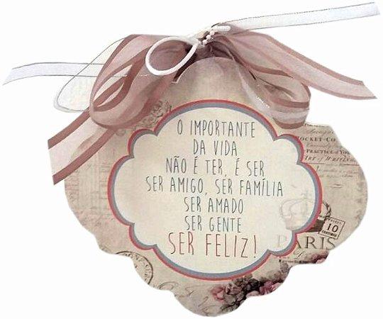 1701-002 Placa MDF - Ser feliz