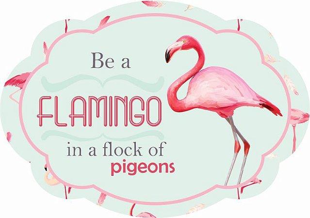 1704-009 Placa MDF - Flamingo