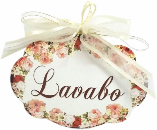 1711 Placa MDF - Lavabo floral