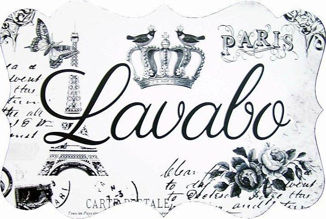 1713G Placa MDF - Lavabo Paris