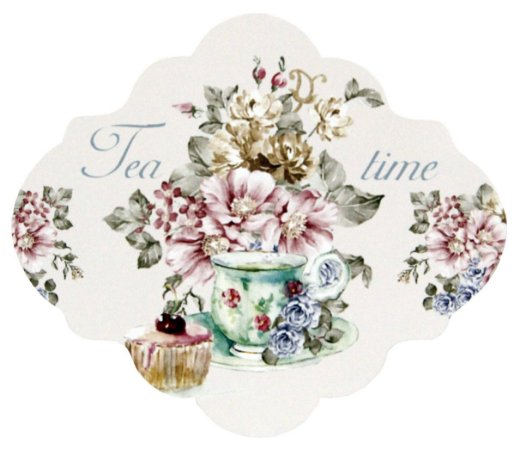 1739-001 Placa MDF - Tea time