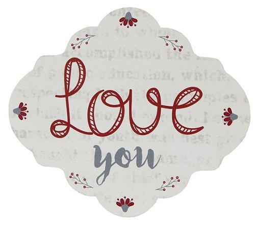 1739-003 Placa MDF - Love you