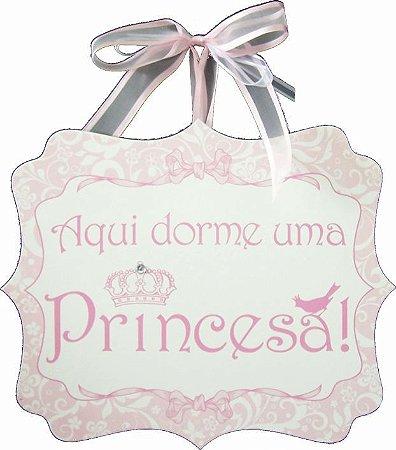 1753 Placa MDF - Princesa laços