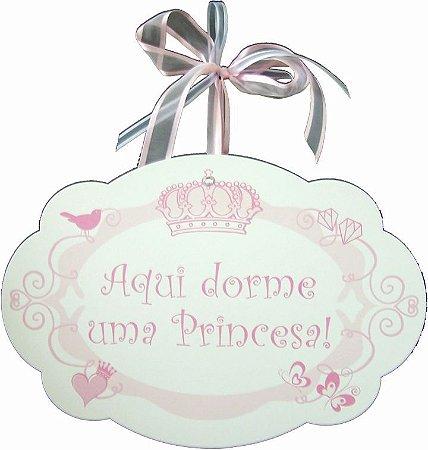1754 Placa MDF - Princesa coroa