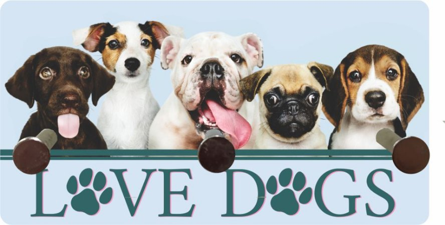 3222 Porta chaves metal - Love Dogs