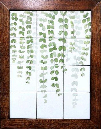 3093AM-059 Quadro de azulejo - Folhas