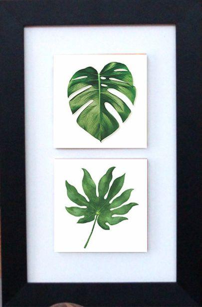 3002-008 Quadro de azulejo Decor - Folhas