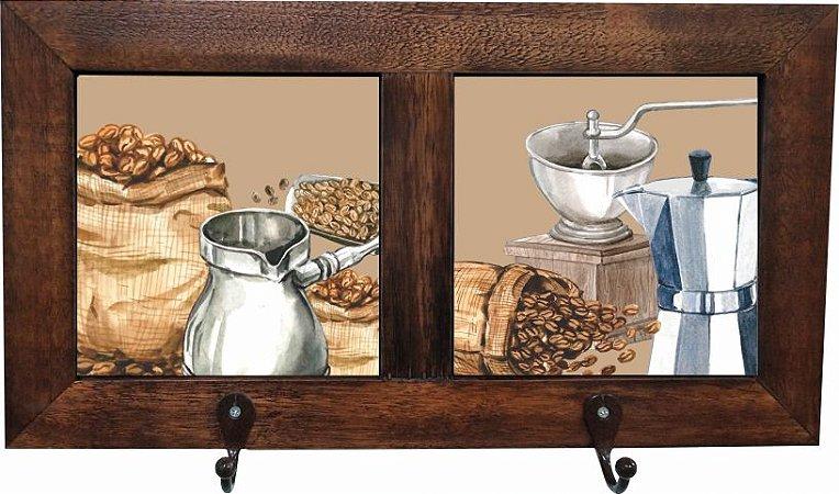 3012-005 Quadro cabideiro duplo - Grão Café