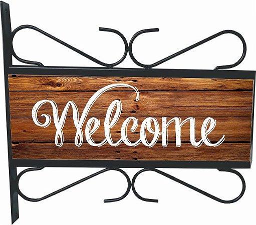 3082-002 Placa Aramada - Welcome