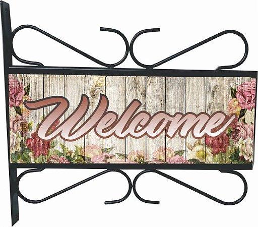 3082-006 Placa Aramada - Welcome flor
