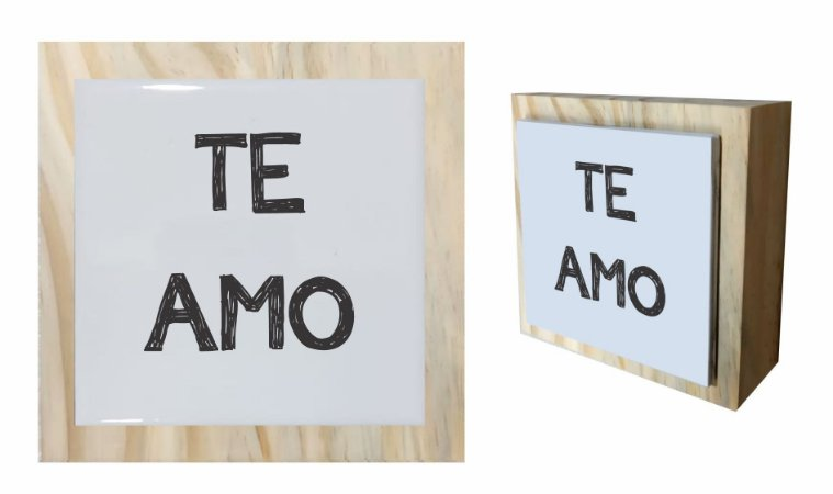 07-04-C059 Cubo Decor Cru - Te Amo