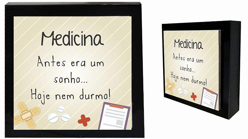 07-04-P053 Cubo Decor Preto - Medicina