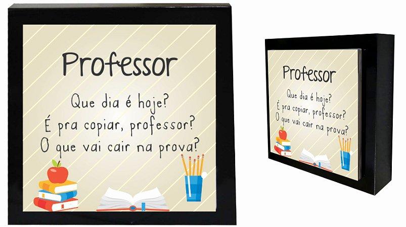 07-04-P055 Cubo Decor Preto - Professor