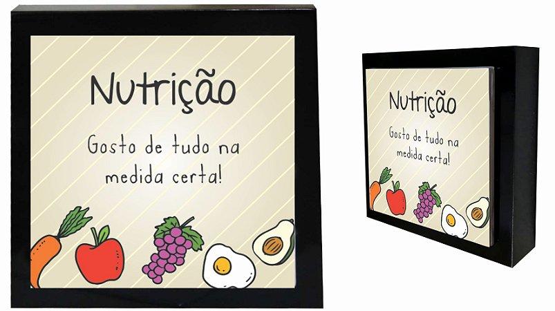 07-04-P056 Cubo Decor Preto - Nutrição