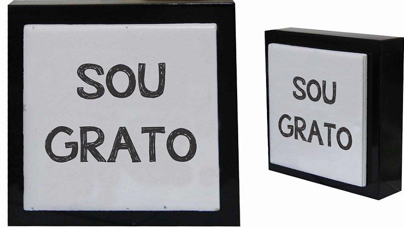 07-04-P059 Cubo Decor Preto - Sou Grato