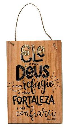 1759-Q029 Placa de madeira - Deus