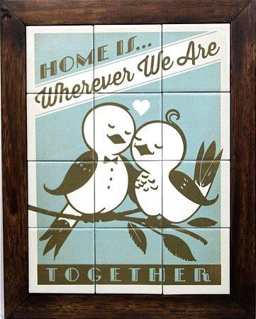 3093AM-079 Quadro de azulejo - Home