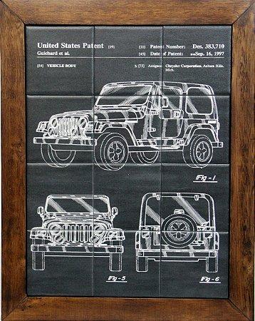 3093AM-084 Quadro de azulejo - Jeep