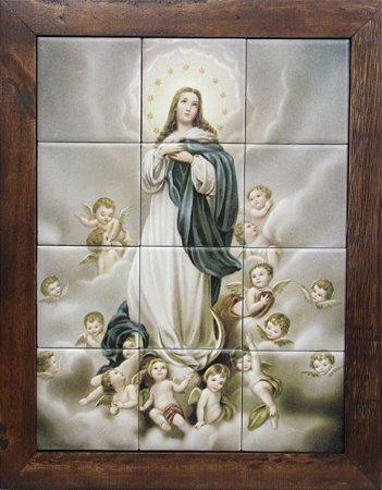 3093AM-086 Quadro de azulejo - Nossa Sra da Conceição