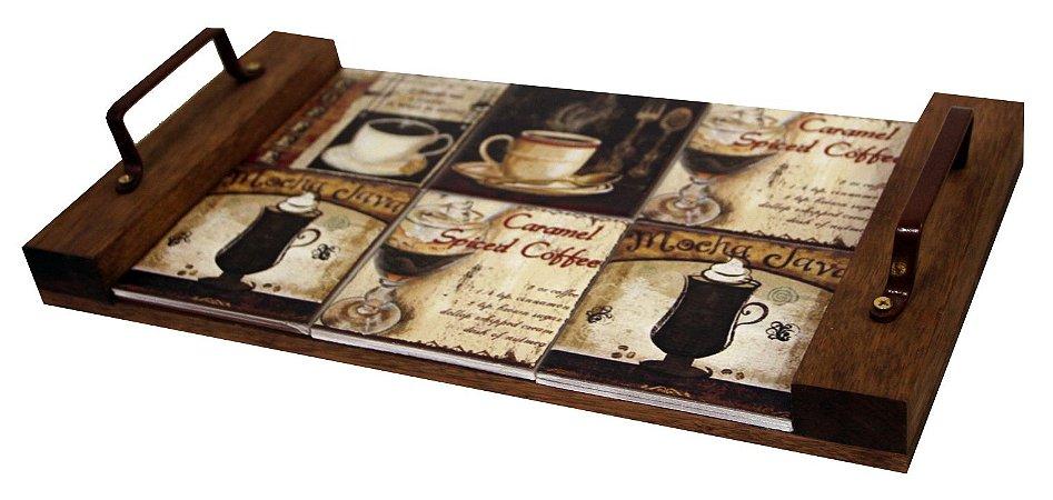 3097-001 Bandeja sem borda - Tipos de café