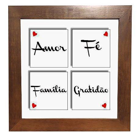 3004M-001 Quadro decor madeira - Família