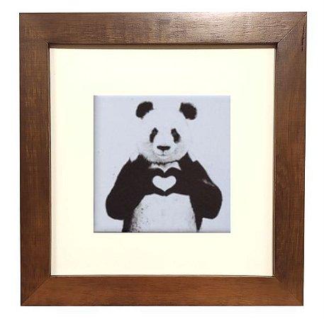3001M-002 Quadro decor madeira - Panda